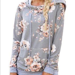 Tops - NWOT Floral Hoodie